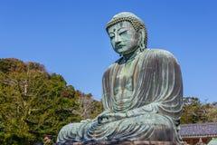 Daibutsu - grand Bouddha de temple de Kotokuin dedans Images libres de droits