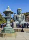 Daibutsu - grand Bouddha de temple de Kotokuin dedans Photos libres de droits