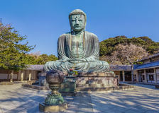 Daibutsu - grand Bouddha de temple de Kotokuin dedans Photo libre de droits