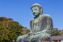 Daibutsu - The Great Buddha of Kotokuin Temple in Royalty Free Stock Images