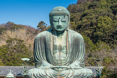 Daibutsu - The Great Buddha of Kotokuin Temple Royalty Free Stock Images