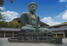 Daibutsu, Great Buddha sculpture is the landmark of Tokyo, Japan. The Great Buddha sculpture is the top landmark of Tokyo, Japan. Kamakura Daibutsu at Kotokuin Royalty Free Stock Photography