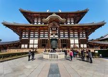 Daibutsu-hol bij Todaiji-Tempel in Nara Stock Afbeeldingen