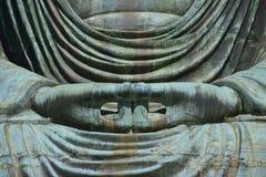 Daibutsu - il grande Buddha del tempio di Kotokuin a Kamakura Immagini Stock