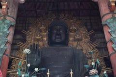 Daibutsu with Kokuzo Bosatsu in the great Buddha hall at Todaiji Royalty Free Stock Photo