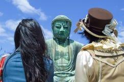 Daibutsu stor Buddha på Kamakura, Japan Arkivfoton