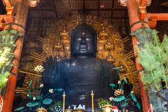 Daibutsu at Todaiji Temple in Nara Stock Images