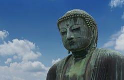 Daibutsu, Wielka Buddha rzeźba jest punktem zwrotnym Tokio, Japonia obraz royalty free