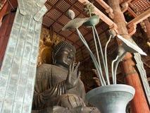 Daibutsuden en el templo de Todaiji Foto de archivo