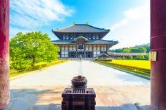 Daibutsuden gran Buda Hall Pillars Nobody H Fotos de archivo
