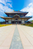 Daibutsuden Great Buddha Hall Front Centered V Stock Photography