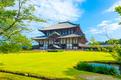 Daibutsuden Grote Boedha Hall Front Angled Lawn H Stock Foto