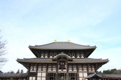 Daibutsuden of Todai ji in Nara Stock Photos