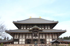 Daibutsuden of Todai ji in Nara Stock Images