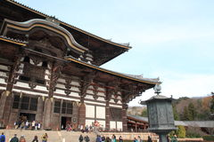 Daibutsuden of Todai ji in Nara Stock Photos
