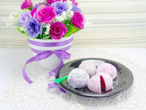 Daifuku mochi japanese sweets Royalty Free Stock Photo