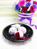 Daifuku mochi japanese sweets Royalty Free Stock Photos