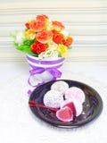 Daifuku mochi japanese sweets Royalty Free Stock Image