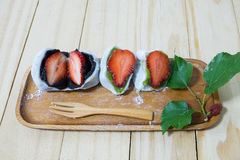 Daifuku op houten dienblad stock foto