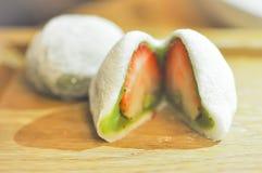 Daifukumochi of Japans dessert stock afbeeldingen