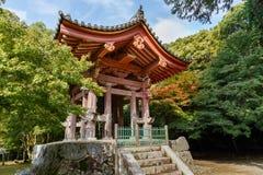 在Daigo籍寺庙的钟楼在京都 免版税图库摄影