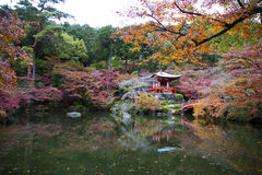Daigo Ji Kyoto, Japan arkivfoton
