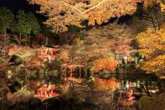 Daigo-ji of night scene is in Tample japan. Royalty Free Stock Image