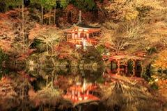 Daigo-ji of night scene is in Tample japan. Royalty Free Stock Photography