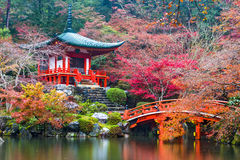 Daigo-ji Temple in Autumn Royalty Free Stock Photo