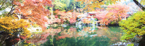 Daigo-ji temple with colorful maple trees in autumn, Kyoto, Japa Stock Photo