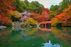 Daigo-ji temple with colorful maple trees in autumn Stock Photo