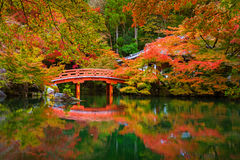 Daigo-ji temple with colorful maple trees in autumn. Kyoto, Japan Royalty Free Stock Images