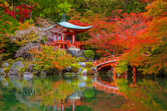 Daigo-ji temple with colorful maple trees in autumn. Kyoto, Japan Stock Photo