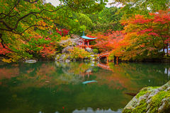 Daigo-ji temple with colorful maple trees in autumn. Kyoto, Japan Royalty Free Stock Photos