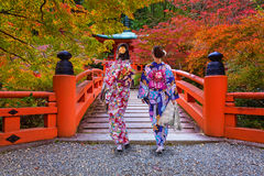 Daigo-ji temple with colorful maple trees in autumn, Kyoto Stock Photography