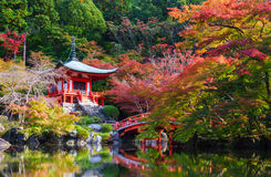 Daigoji寺庙在秋天,京都,日本 免版税库存图片
