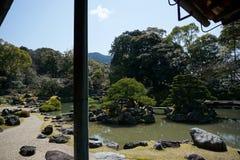 Daigoji寺庙的,京都日本庭院 免版税库存照片