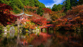 Daigoji with fall colors, Kyoto Royalty Free Stock Images