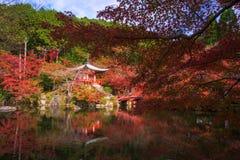 Daigoji Temple with autumn foliage, Kyoto Royalty Free Stock Images