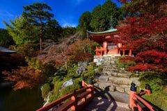 Daigoji Temple at autumn, Kyoto Stock Image