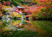 Daigoji Temple in Autumn, Kyoto, Japan Royalty Free Stock Images