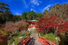 Daigoji Temple with autumn trees in Kyoto Royalty Free Stock Photo