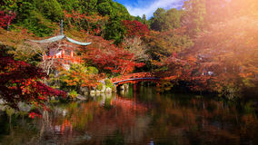 Daigoji Temple at fall, Kyoto Stock Photography