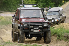Daihatsu. Off road amateur competition in Poland Stock Photos