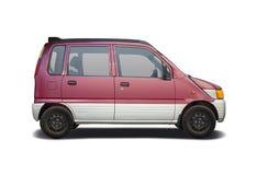 Daihatsu-Beweging op wit wordt geïsoleerd dat Stock Afbeelding