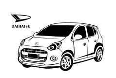 Daihatsu car vector design. Daihatsu car images that can be printed in any media, on tshirt, poster, book cover etc Royalty Free Stock Images