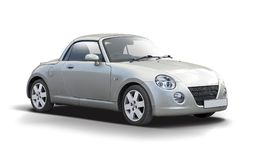 Daihatsu Copen car isolated on white. Small Japanese cabrio car side view isolated on white background Royalty Free Stock Photo