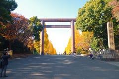 Daiichi Torii, la primera puerta de la capilla de Yasukuni Fotos de archivo
