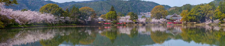Daikaku-ji Temple at arashiyama, kyoto, japan. Panoramic view of Daikaku-ji Temple Royalty Free Stock Images