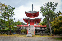 Daikakuji寺庙在京都,日本 免版税库存图片